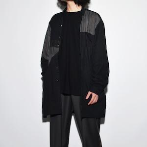 Crazy Pattern Shirt Coat 〈 Black 〉