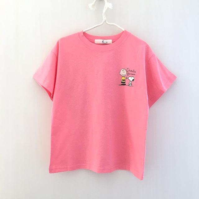 カートゥーンプリントTEE ピンク【T069】