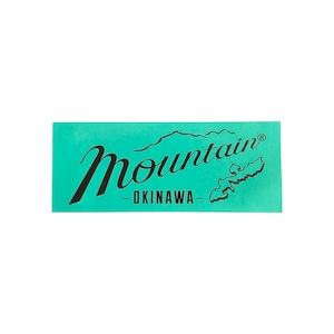 Mountain オリジナルロゴ 長方形ステッカー 150✖️60 ミント
