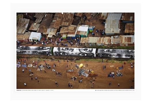"JR - POSTER ""ACTION IN KIBERA SLUM, NAIROBE, KENYA"""