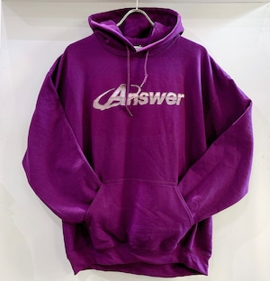 ANSWER COLLECTION / METALIC LOGO HOODIE
