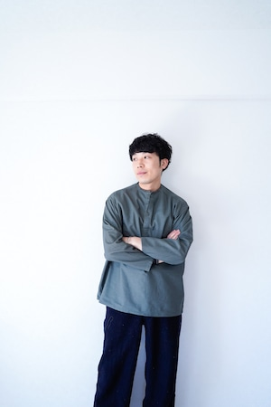 """【Deadstock, 1970s】""""Soviet Army"""" Vintage  Gray Color Sleeping Shirts"""