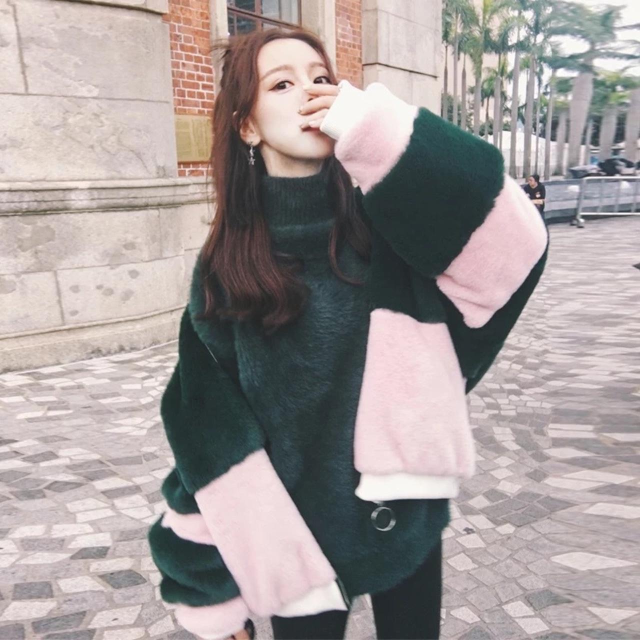 【即納】pink fur volume jacket