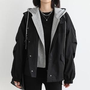 2色/フードドッキングジャケット ・3083