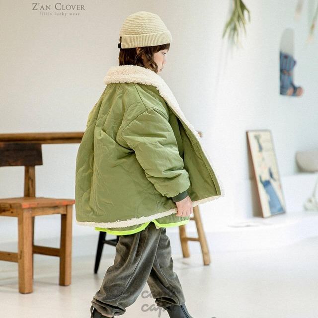 «ジュニア・ママサイズ»«送料無料»«Z'an Clover» quilting jacket キルティングジャケット