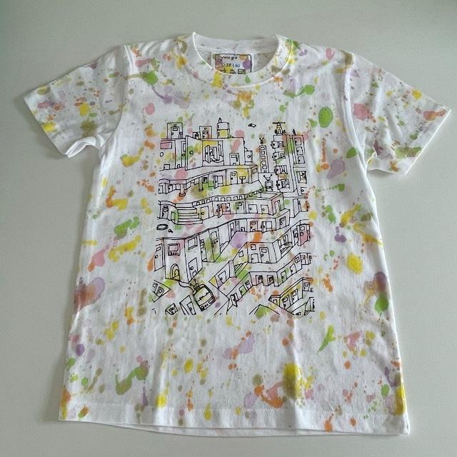 kidsTシャツ140cm「 puzzle city スプラッシュ」140-211005-2
