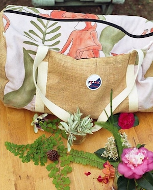FEDE Pink Jungle Duffle Bag