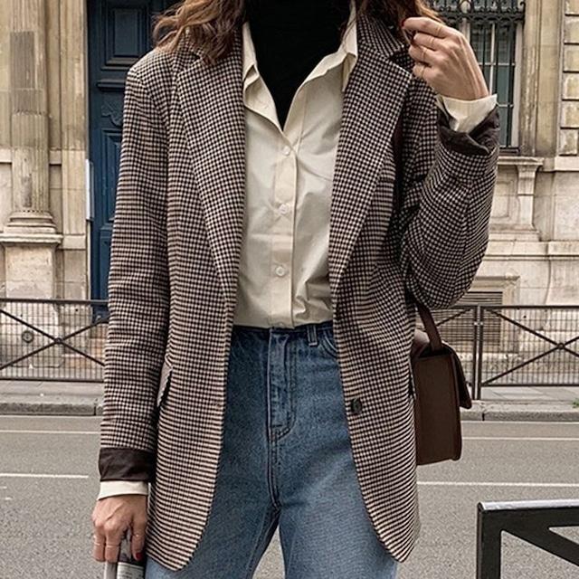 Check pattern jacket KRE1036