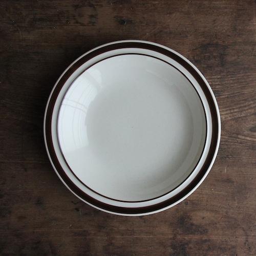 HOKUSEI  ブラウンライン スープ皿 在庫1枚