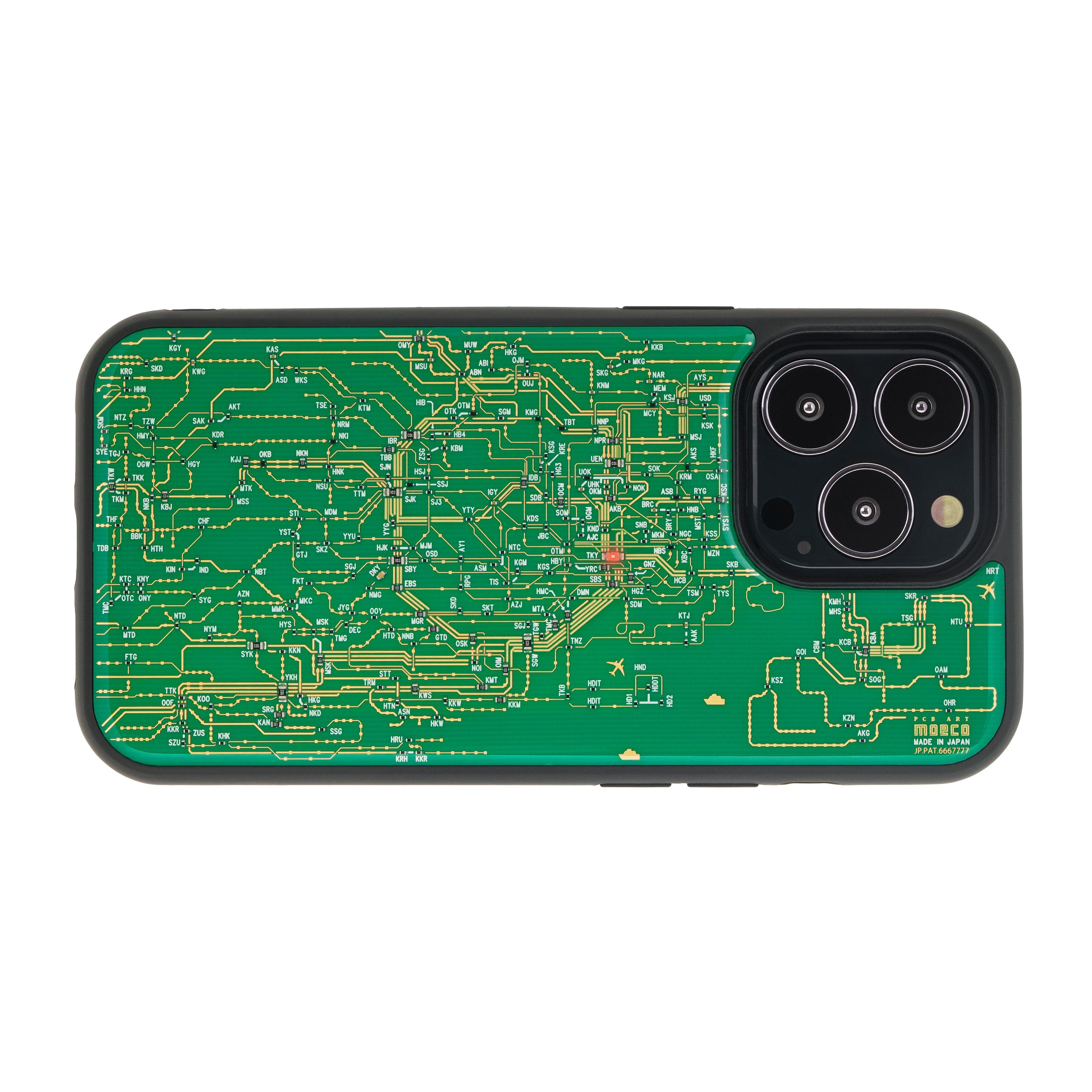 FLASH 東京回路線図 iPhone 13 Pro ケース 緑【東京回路線図A5クリアファイルをプレゼント】
