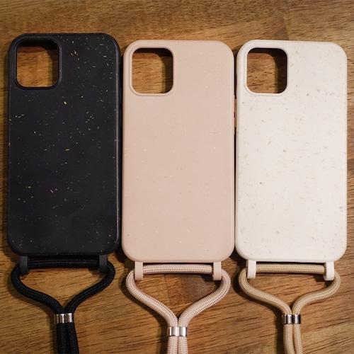 大地にもどるエコスマホケース 「ストラップ付き」【iPhone 12 mini /12・12Pro /12 Pro Max 対応】リサイクル小麦素材 アースカラー エコ
