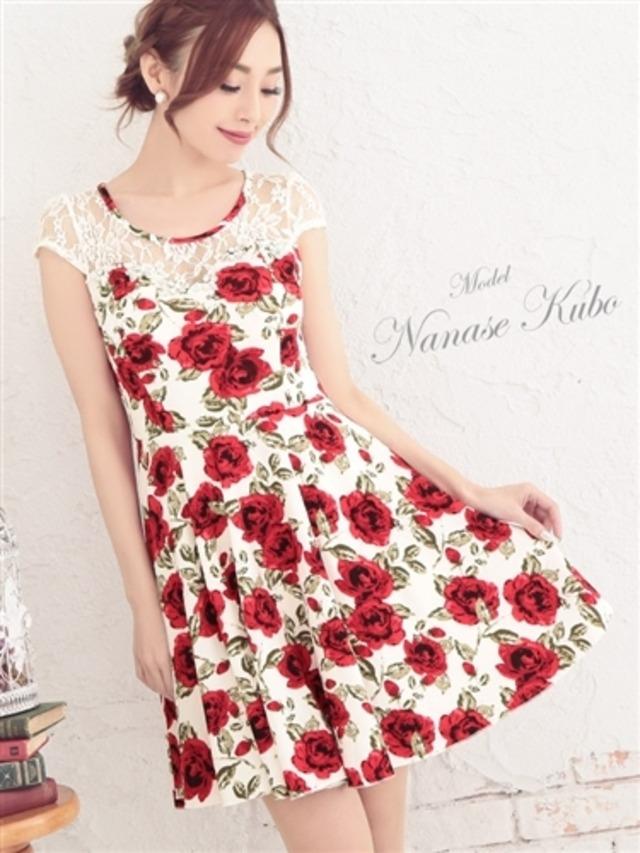 送料無料 パーティードレス 花柄 フラワー レディース ミニドレス お呼ばれ ドレス キャバドレス 大きいサイズ ichi-tika-tk-md63217bkm