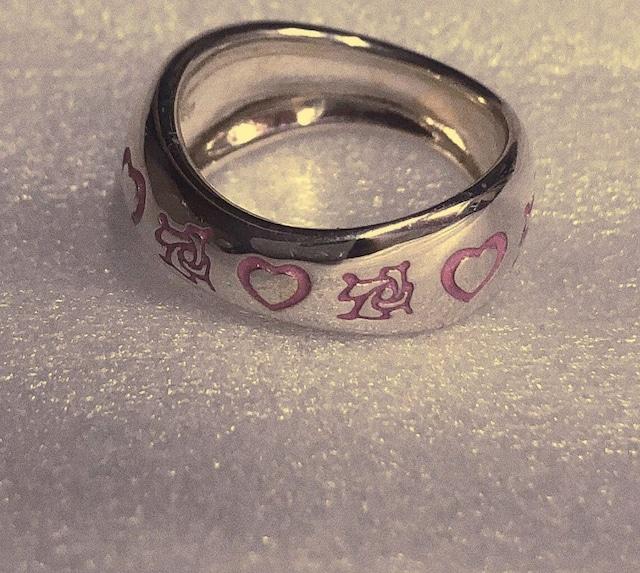 薔薇とハートのRING Pink  SILVER925 #LJ19008R
