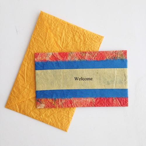 和紙のウェルカムカード(Welcome004)
