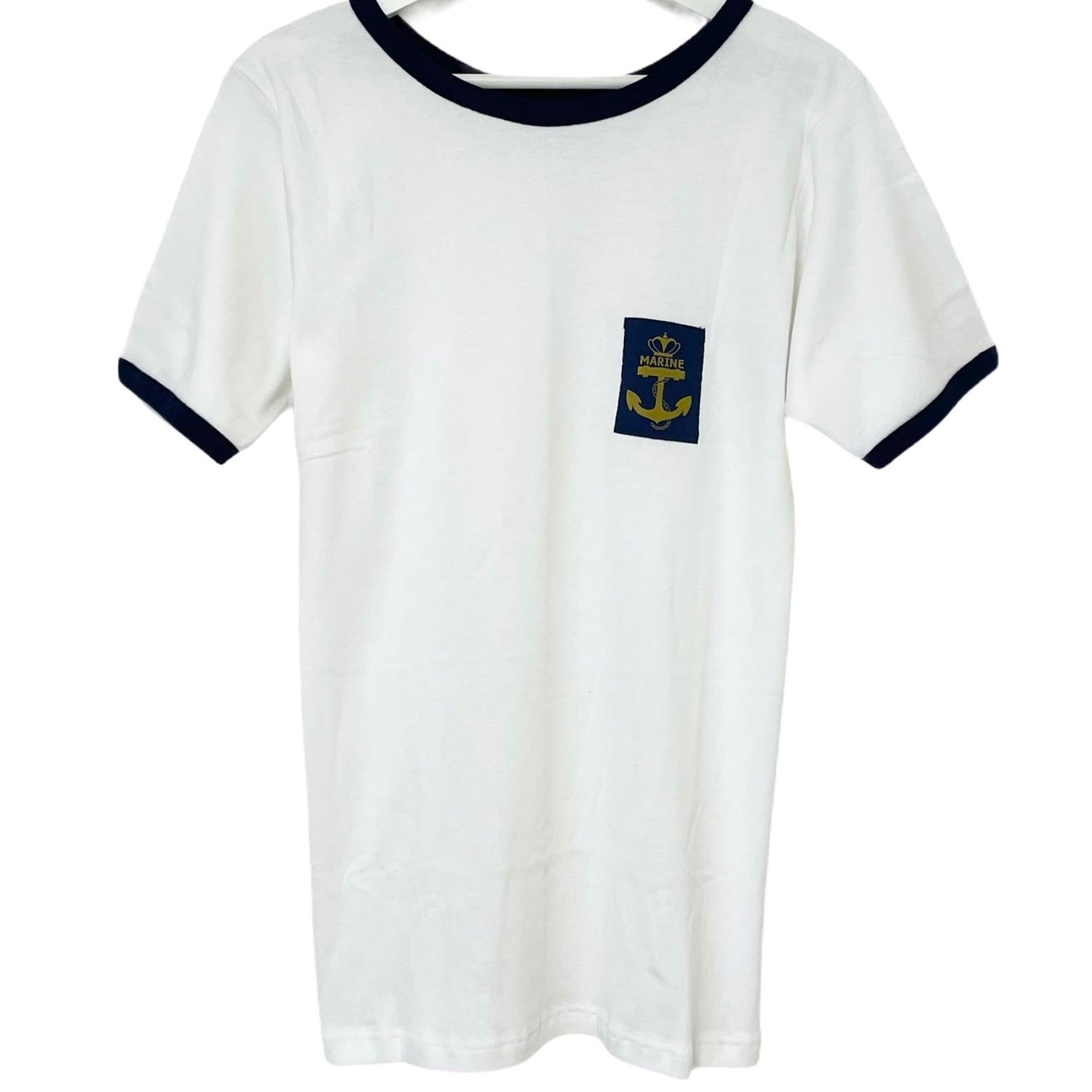 Dead Stock Belgian NAVY Ringer T-Shirt