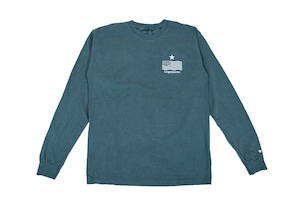 "【""USA"" vintage long sleeve】/ green"