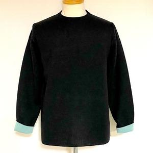 Switch Color Crew Neck Knit Black / Mint