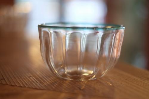 【カンナカガラス工房◆村松学】◆口巻浅葱のモール鉢◆初入荷◆NEW◆