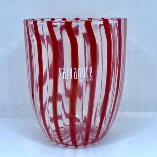 Item074 ヴェネチアンガラス タンブラー striscia ストリスィア ストライプ レッド