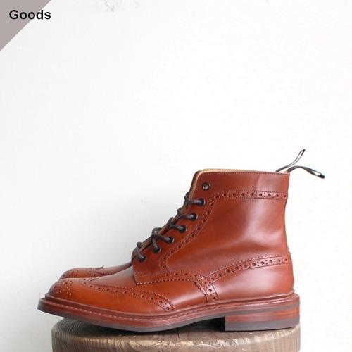 Tricker's ブローグブーツ STOW  (Marron Antique)