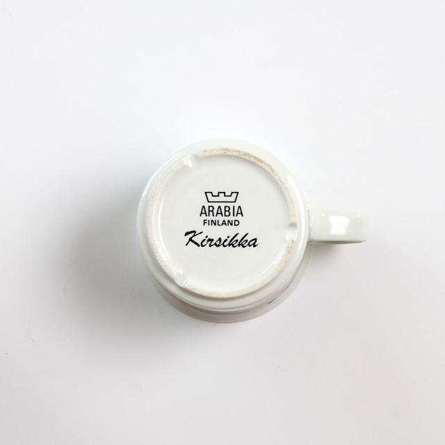 ARABIA アラビア Kirsikka キルシッカ コーヒーカップ&ソーサー、プレート三点セット - 3 北欧ヴィンテージ
