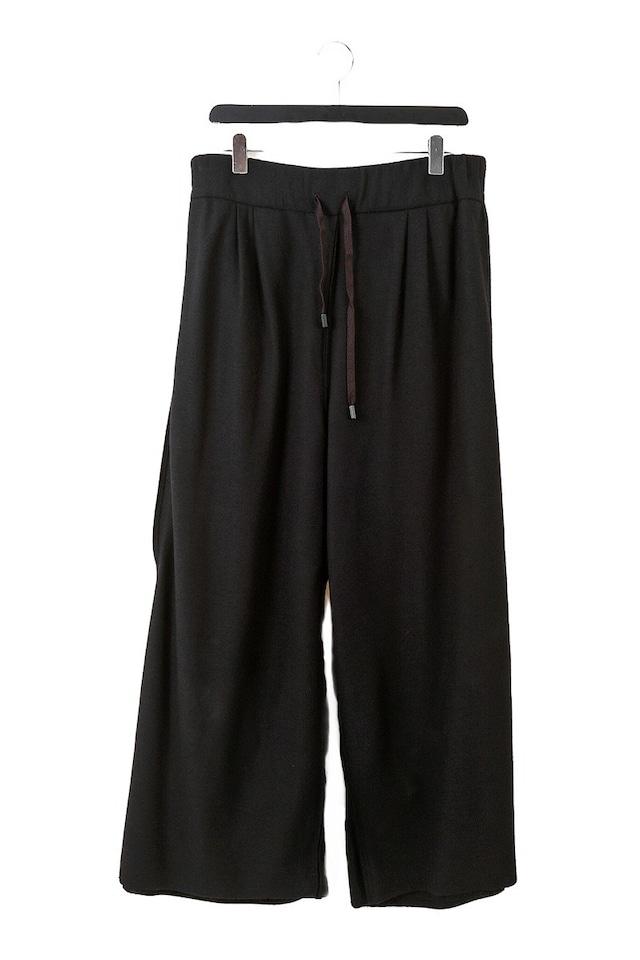 [受注生産]コットン: ワイドパンツ WIDE PANTS 黒 235068 ミハイルギニスアオヤマ[MADE IN JAPAN][税/送料込]