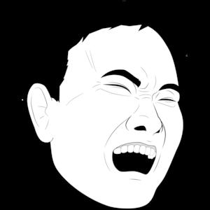 叫び顔の男性①