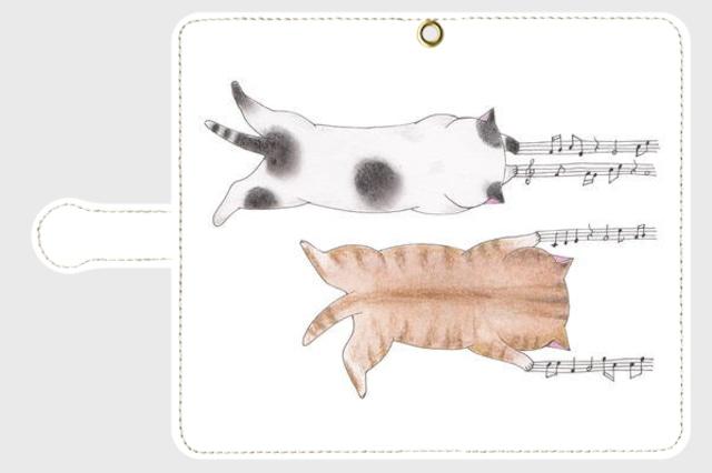 【特価】(Android Sサイズ)爪猫の手帳型スマホケース