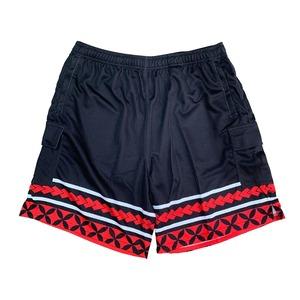 【YBC】Tribal Cargo Pants Black×Red
