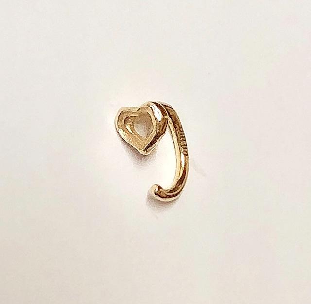 bone HEART body jewelry K10YG 18G   #LJ18051P/18G
