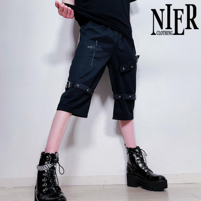 3BELT BLACK HALF PANTS【NieR CROSS】