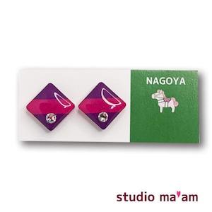 ■NAGOYA-18  ピアス。しかく。〜イヤリング変更可〜
