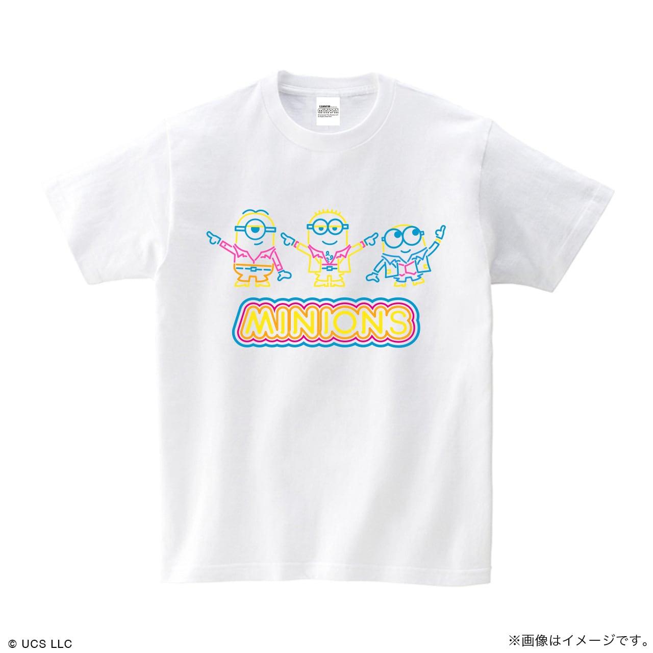 Tシャツ/ミニオン(ネオン ホワイト)【MINIONS POP UP STORE 限定】