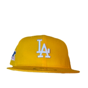 NEW ERA Los Angeles Dodgers 1981 World Series 59Fifty Fitted /Yellow×White (Pink Brim)