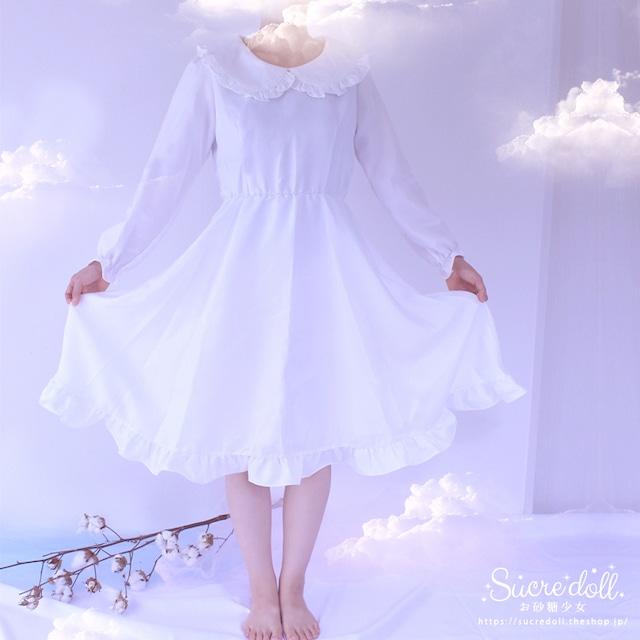 お砂糖少女のフリルドレス White