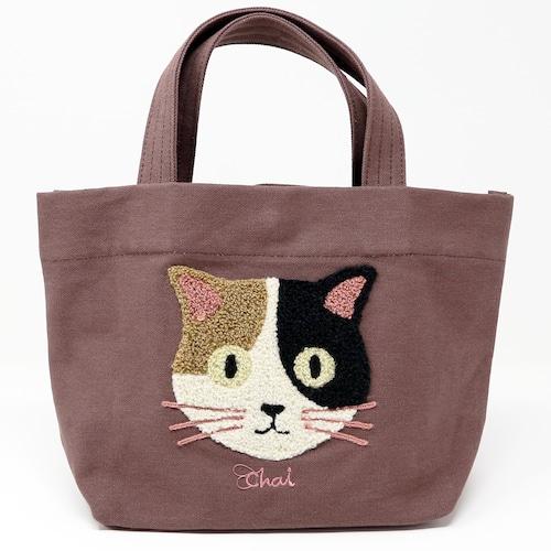 猫トートバッグ(ファミネコトートバッグ)ブラウン