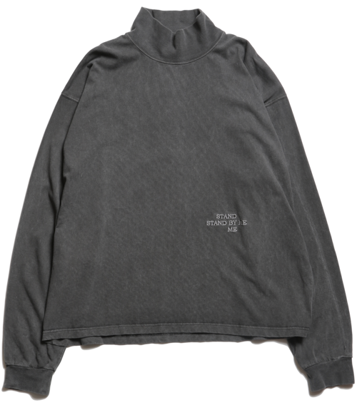 """CC """"STAND BY ME"""" L/S MOCKNECK TEE -FADE BLACK-"""