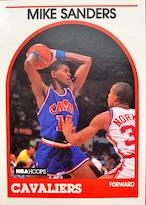 NBAカード 89-90NBAHOOPS Mike Sanders #226 CAVALIERS