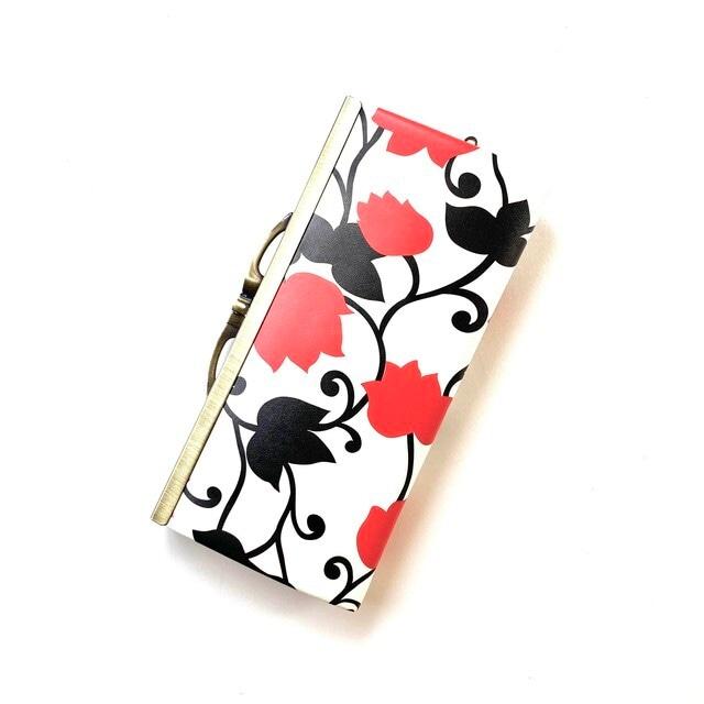【SALE】【秀和 x pink india】北欧デザイン 牛革がま口復刻長財布 | matthew red