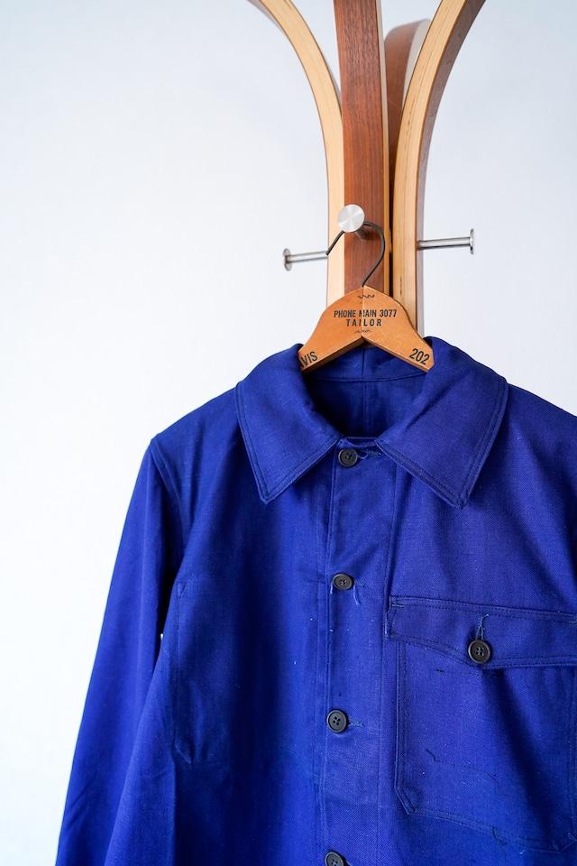 "【1950s, Deadstock】""Flap-pocket"" French Work Cotton JKT / v654"