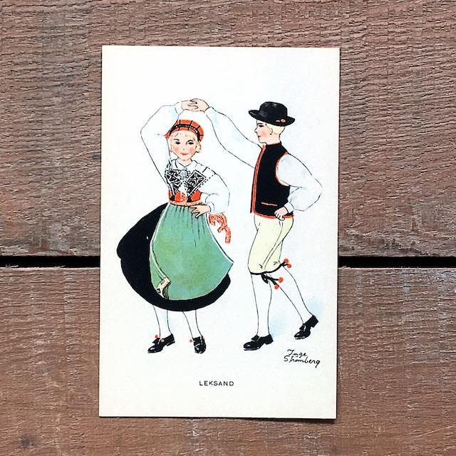 民族衣装カード「LEKSAND(NATIONAL BILDER - 02)」《201213-02》