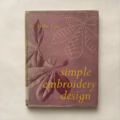 Simple embroidery design  /  Hebe Cox