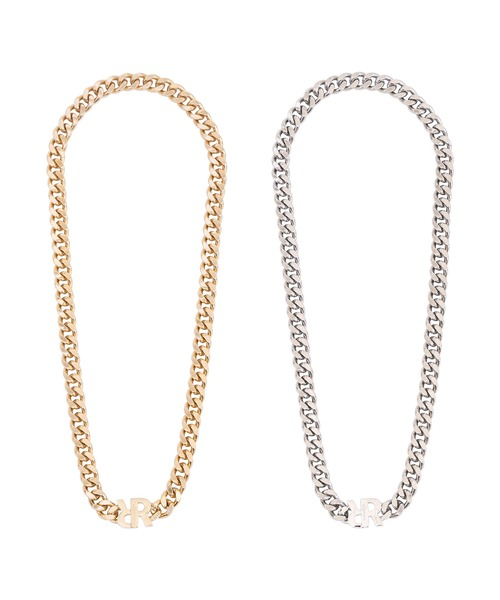 R CONNECTOR FLAT LINK CHAIN NECKLACE[REA169]