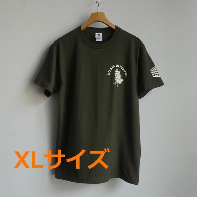 【特注品】Tシャツ NO SEA IN HEAVEN アーミーグリーンXLサイズ