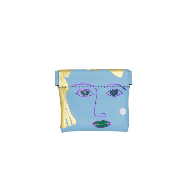 Ark Colour Design_Portrait Snap Purse:Light Blue