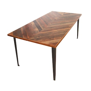 "受注生産品 Table ""Plain"" 900 x 1800 w/ chevron top"