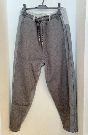 Wide & Narrow Herringbone Switch Pants Charcoal
