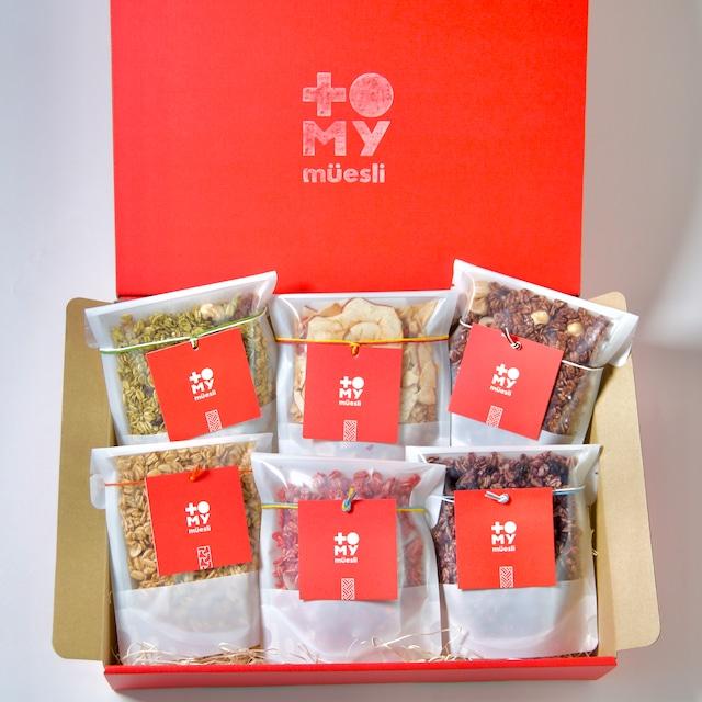 6種の甘酒ミューズリー小袋ギフトセット