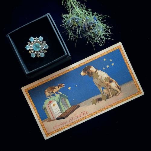星座のチョコレートカードと星屑のブローチ