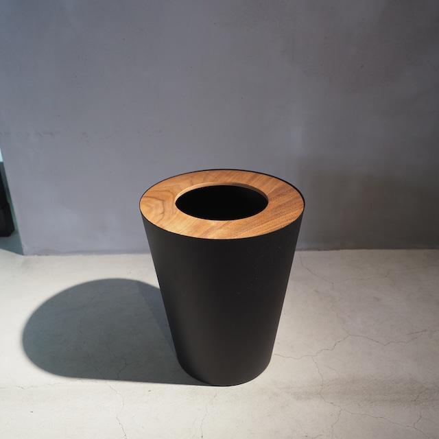 トラッシュカン 丸型 ブラック